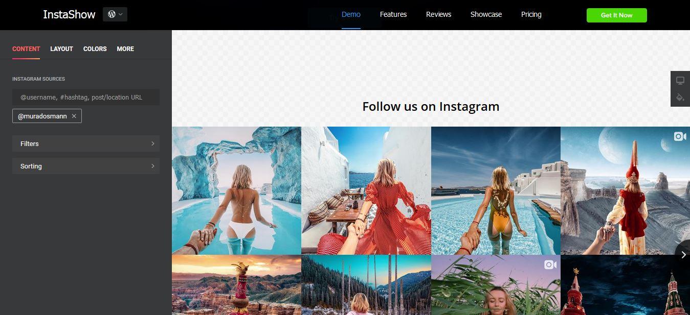 Instashow - best of the best Instagram plugins