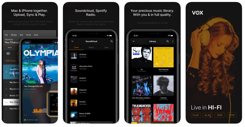 vox iphone music player app