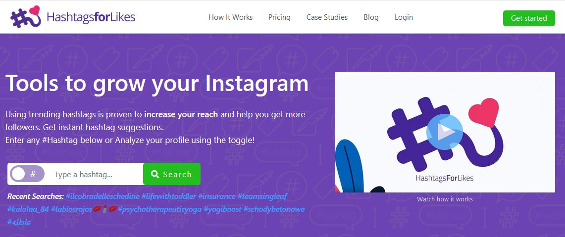 hashtagsforlikes - tools to grow your instagram